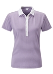 PING Monica Short Sleeve Stripe Golf Polo - Volia Marl