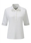 PING Stefanie 3/4 Sleeve Golf Polo - White