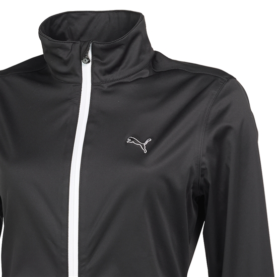 Puma Women's Golf Rain Jacket- Black | Golf4Her