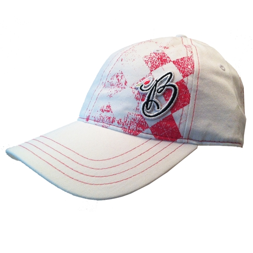 Pukka Brittany Johnston Pink Argyle Golf Hat  5b015746fd5