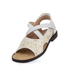 Aerogreen Amalfi Ladies Golf Sandal - White/Silver Multi