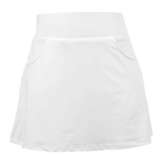 Garb Rachel Pleated Girls Golf Skort - White