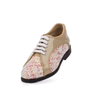 Aerogreen Livorno Ladies Golf Shoe - Beige Patent/ Pink Multi