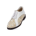 Aerogreen Livorno Ladies Golf Shoe - White Beige/ Silver Metallic