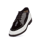 Aerogreen Linate Ladies Golf Shoe - White/ Black Patent