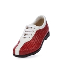 Aerogreen Milano Ladies Golf Shoe - White/ Red
