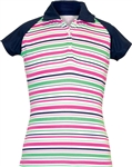 Garb Romy Short Sleeve Purple Stripe Polo