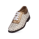 Aerogreen Pavia Ladies Golf Shoe - White/Bronze