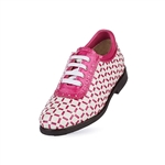 Aerogreen Pavia Ladies Golf Shoe - White/Pink Metallic