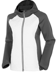 Sunice Elsa Climaloft Thermal Stretch Hybrid Jacket - White/Charcoal
