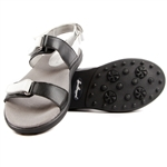 Sandbaggers Lola Black/White Golf Sandal