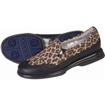 Sandbaggers Vanessa Brown Leopard Golf Shoe