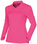 Sunice Kaylee Coollite Long Sleeve Polo - Bright Rose