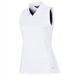 Sunice Kadee Jacquard Coollite Sleeveless Polo - White
