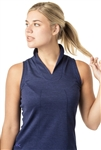 VK Sport Sleeveless Stand Collar Top - Navy