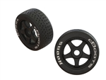 ARRMA DBoots Hoons 42/100 2.9 Belted Tires on Five Spoke Wheels (2)