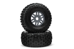 ARRMA dBoots Fortress Pre-mounted Tire Set - Gun Metal (2)