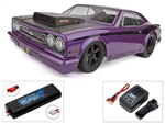 Associated DR10 Brushless Drag Race Car RTR - Purple Combo with Charger and 2S LiPo Battery