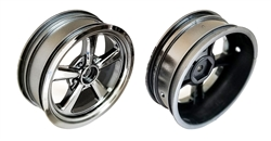 "Associated Drag Front Wheels, 2.2"", Chrome (2)"