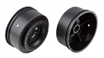 "Associated DR10 Drag Rear Wheels, 2.2"" / 3.0"", Black (2)"