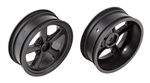 "Associated DR10 Drag Front Wheels, 2.2"", Black (2)"