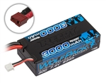 Reedy Wolfpack 3000mAh 2S 7.4V 30C Shorty LiPo Battery - Deans