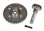 Axial Heavy Duty Bevel Gear Set 36T / 14T