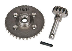 Axial HEAVY DUTY BEVEL GEAR SET 36T/14T