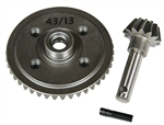 Axial HEAVY DUTY BEVEL GEAR SET 43T/13T