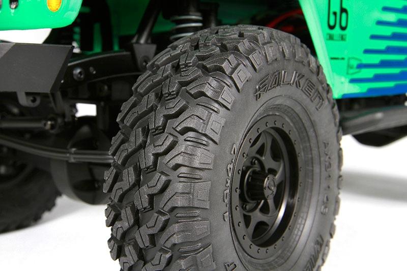 2 Axial AX31143 1.9 Falken Wildpeak Mud Terrain Tires R35 SCX10 SCX10 II