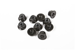 Axial M4 Serrated Nylon Lock Nut (Black) (10pcs)