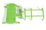 Axial Monster Truck Skid Plate and Battery Capture (Green)