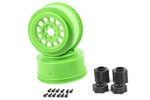 "Axial 2.2"" / 3.0"" Method 105 Wheels 41mm Green (2pcs)"