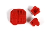 Axial AR44 Differential Cover and Link Mounts (Red)