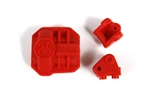Axial AR44 Differential Cover/Link Mounts Red