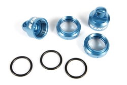 Axial King Shocks Aluminum Caps/Collar Set 12mm Blue
