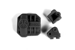 Axial AR44 Differential Cover and Link Mounts (Black)