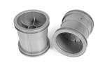 "Axial 2.2"" Monster Truck Wheels 63mm Silver (2)"