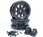 Axial 1.9 8 Hole Beadlocks - Black (2pcs)