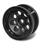 "Axial 2.2"" 8 Hole Beadlocks Black (2)"