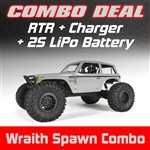 Axial Wraith Spawn 1/10th Scale Electric 4WD RTR Combo with Charger and 2S LiPo Battery