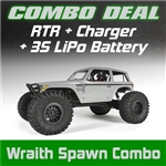 Axial Wraith Spawn 1/10th Scale Electric 4WD RTR Combo w/Charger and 3s LiPo Battery