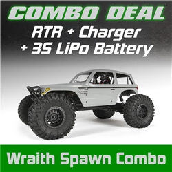 Axial Wraith Spawn 1/10th Scale Electric 4WD RTR Combo with Charger and 3S LiPo Battery