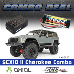 Axial SCX10 II 2000 Jeep Cherokee 4WD RTR Combo with Charger and NiMh Battery