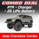 Axial SCX10 II 2000 Jeep Cherokee 4WD RTR Combo with Charger and 2S LiPo Battery