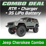 Axial 1/10 SCX10 II 2000 Jeep Cherokee 4WD RTR Combo w/Charger and 3s LiPo Battery