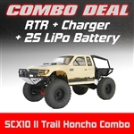 Axial SCX10 II Trail Honcho 4WD RTR Combo with Charger and 2S LiPo Battery