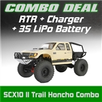 Axial SCX10 II Trail Honcho 4WD RTR Combo with Charger and 3S LiPo Battery