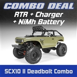 Axial SCX10 II Deadbolt 4WD RTR Combo with Charger and NiMh Battery