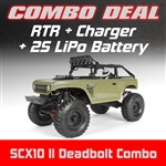 Axial SCX10 II Deadbolt 4WD RTR Combo with Charger and 2S LiPo Battery